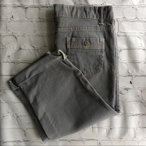 [Faded Glory] gray crop jeans size 14